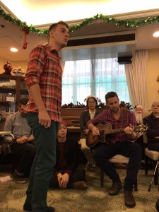 Henry and Barry performing Blue Christmas by Elvis