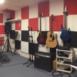 photo of the new band rehearsal room at Aspire